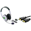 eForCity - Headset with Microphone and High Speed HDMI Cable M/M for Microsoft xBox 360 Slim/xBox 360