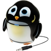 GOgroove - Groove Pal Penguin Portable Speaker with Dual High-Excursion Drivers for Smartphones and Tablets - Black, White