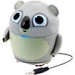 GOgroove - Pal Koala Portable Rechargeable Speaker w/ Dual High-Excursion Drivers - 3.5mm Cable - Gray