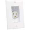 Midlite - 4642-W Single Gang Decor Recessed 110V AC Power Inlet