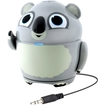 GOgroove - Pal Koala On-the-Go Animal Speaker w/ Rechargeable Battery for Camping, Road Trips, & More - Gray