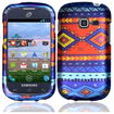 Insten - Tribal Case For Samsung Galaxy Centura S738C - Blue Tribal