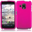 Insten - Snap-On Hard Rubberized Case Cover for Pantech Perception ADR930L - Hot Pink