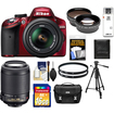 Nikon - D3200 Camera+18-55 G VR DX AFS Lens+55-200 VR Lens+16GB+Case+Filters+Tripod+Telephoto+WideAngle Lens