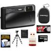 Sony - Cyber-Shot DSC-TX30 Shock, Waterproof Digital Camera Black w/ 8GB Card, Case, Flex Tripod, Acc Kit