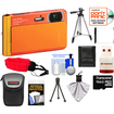 Sony - DSC-TX30 Shock+Waterproof Camera Orange+16GB Card+Battery+Case+Floating Strap+Tripod+Acc Kit