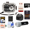 International Innovations - 10K Waterproof Camera+140' Underwater Housing+8GB Card+Batteries+Charger+Case+LED Torch+Acc Kit