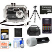 International Innovations - Waterproof Camera+140' Underwater Housing+32GB+Batteries+Charger+Case+Flex Tripod+LED Torch+Acc Kit