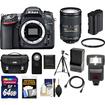 Nikon - D7100 Digital SLR Camera Body w/ 18-300mm VR Lens+64GB Card+Battery+Case+Flash+Filter+Tripod Kit