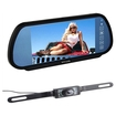 "Image - 7"" Inch Security 16:9 Color TFT LCD Wide Screen Car Rear View Backup Parking Mirror Monitor + Camera - Black"
