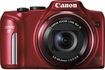 Canon - PowerShot SX170 IS 16.0-Megapixel Digital Camera - Red - Red