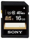 Sony - 16GB SDHC UHS-1 Memory Card - Black