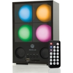 Accessory Genie - MOVE L3D Rechargeable LED Color-Changing Mood Light Speaker System w/ Wireless Remote & Audio Inputs - Gray