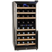 EdgeStar - 32 Bottle Free Standing Dual Zone Wine Cooler - Black