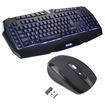Image - 3 Colors Programmable Macro Keys LED Multimedia Backlit Game Gaming Keyboard+Wireless Optical Mouse