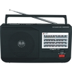 Supersonic - 5 Band AM/FM/SW1/SW2/TV Portable Radio - Black