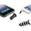 eForCity - 5X Headset Dust Cap with Eject Pin + Plug Cap + Headset Smart Wrap for iPod Touch 4th - Black