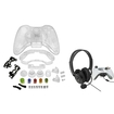 eForCity - Crystal Shell and Headset with Microphone for Microsoft xBox 360/xBox 360 Slim