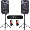 Podium Pro - EVERYTHING YOU NEED 10 3 WAY SPEAKERS AMPLIFIER STANDS CABLES PLUS BLUETOOTH 1000CSET2B