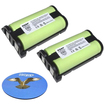 HQRP - 2 Pack Battery for Panasonic N4HHEPA00001 P-P513 TYPE 27 Replacement + Coaster