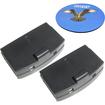 HQRP - 2 Pack Battery for Sennheiser set 250 set 250J set 2500 TV Sound System + Coaster