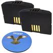HQRP - 2-Pack Battery for Sennheiser Set 830 Set 830-S Set-830 TV listening + Coaster