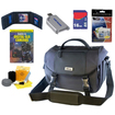 Nikon - Bundle SLR Camera Multi Compartment Gadget Bag with Pockets & Strap