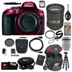 Nikon - Bundle D5300 24.2 MP CMOS SLR Camera with Built-in Wi-Fi and GPS Body Only (Red)