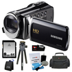 Samsung - Bundle HMX-F90 HD Camcorder (Black)