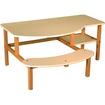 Wild Zoo - Pre School Buddy Desk - Blue, Maple - Blue, Maple