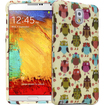 Fosmon - MATT-DESIGN Protective Rubberized Case for Samsung Galaxy Note 3 (2 pcs cover) - Fancy Owls - Fancy Owls