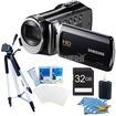 Samsung - HMX-F90 52X OPTIMAL ZOOM HD CAMCORDER BLACK KIT