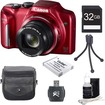Canon - Bundle PowerShot SX170 IS 16MP Digital Camera - Red