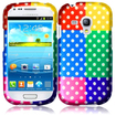 BasAcc - Hard Rubberized Colorful Polka Case Cover For Samsung Galaxy® S3 SIII Mini i8190