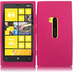 Insten - Soft Silicone Skin Gel Case Cover For Nokia Lumia 920 - Hot Pink