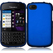 BasAcc - Hard Snap-On Rubberized Case Cover For Blackberry Q10 - Blue - Blue