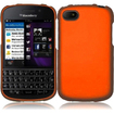 Insten - Rubberized Hard Cover Case For Blackberry Q10 - Orange