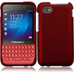 Insten - Hard Snap-On Rubberized Case Cover For Blackberry Q5 - Red