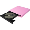 Image - Pink USB External CD-ROM Drive Support Windows XP / Vista / 2000 / ME / 98 MAC