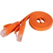 Fosmon - 3ft Cat6 Flat Snagless Network Ethernet Cable (Orange) - Orange