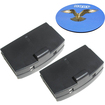HQRP - 2 Pack Battery for Sennheiser A 200 A 200-120 A 200-UK Sound Amplifier +Coaster