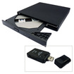 Image - USB 2.0 External Slim 24X CD-ROM Drive For Dell Latitude 2100 w/free all-in-one card reader