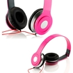 DrHotDeal - Adjustable Circumaural Over Ear Stereo Earphone Headphone for PC MP3 MP4 iPod iPhone iPod Tablet - Hot Pink