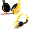 DrHotDeal - Adjustable Circumaural Over Ear Stereo Earphone Headphone for PC MP3 MP4 iPod iPhone iPod Tablet - Yellow