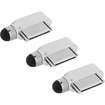 Precision Touch - Charger Port Dust Plug Stylus for iPad 1 2 3 4 / iPad Air / iPad Mini and iPhone 1 3G 4 4S - Silver - Silver