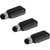 Precision Touch - Charger Port Dust Plug Stylus for iPad 1 2 3 4 / iPad Air /iPad Mini and iPhone 1 3G 4 4S - Black - Black