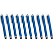 Precision Touch - Bundle of 10 Touch Screen Stylus Pens for Kindle Tablets (All Models Including Paperwhite) - Blue - Blue