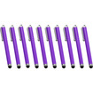 Precision Touch - Bundle of 10 Touch Screen Stylus Compatible with Samsung Galaxy S3 & S4 - Purple - Purple