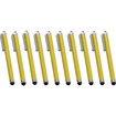 Precision Touch - Bundle of 10 Touch Screen Stylus Pens for iPhone 4 / 4S - Gold - Gold