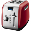 KitchenAid - 2 Slice, Manual High-Lift Lever Toaster with LCD Display - Empire Red, Stainless Steel
